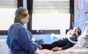 קורונה בבית חולים באיטליה (צילום: רויטרס, שי פרנקו,רויטרס)