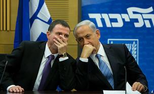 בנימין נתניהו ויולי אדלשטיין (צילום: Yonatan Sindel/Flash90, חדשות)