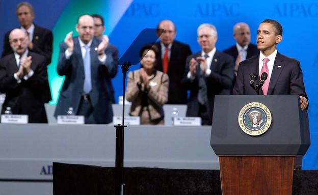 """ברק אובמה נואם בוועידת איפא""""ק 2012 (צילום: Chip Somodevilla, GettyImages IL)"""