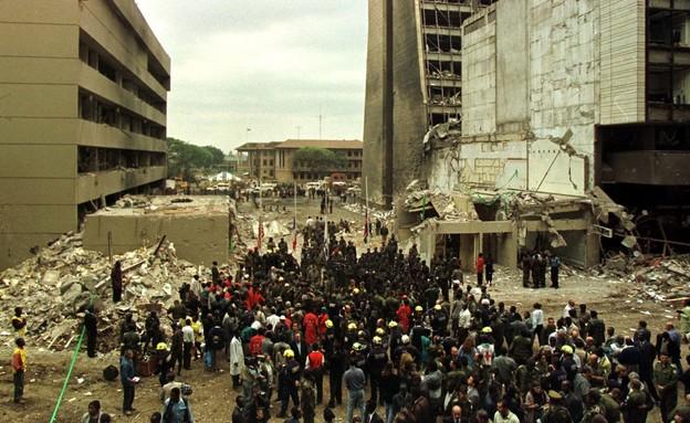 טקס האזכרה לזכר הנספים בפיגוע אל-קעידה בשגרירות בניירובי ב-1998 (צילום: reuters)