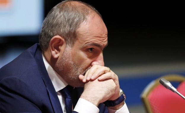 ראש ממשלת ארמניה ניקול פשיניאן (צילום: AP)