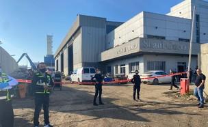 מפעל שאול גאוטה באשדוד שבו אירע פיצוץ הגז (צילום: דוברות משטרת ישראל)