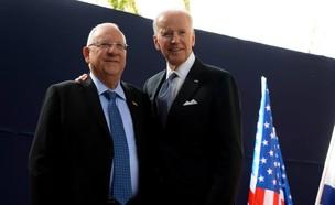 """נשיא המדינה ריבלין ונשיא הנבחר בארה""""ב ג'ו ביידן (צילום: מארק ניימן, לע""""מ)"""