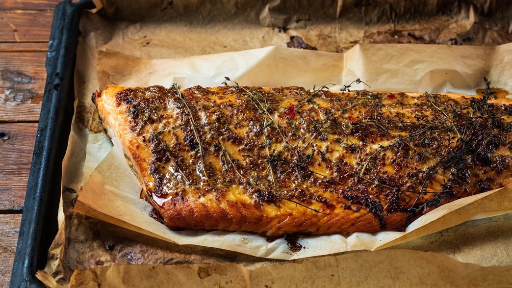 סלמון צלוי בתנור (צילום: נמרוד סונדרס, אוכל טוב)