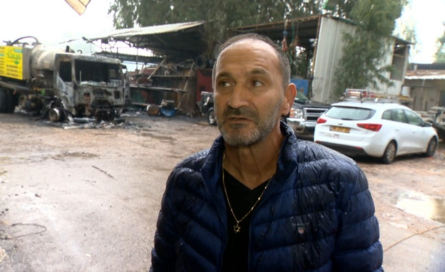 רפי דעדוש, בעל עסק שהוצת (צילום: החדשות 12)
