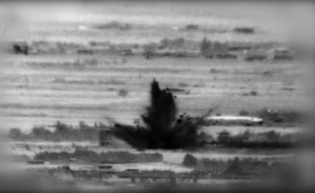 """תיעוד מתקיפות צה""""ל (צילום: דוברות משרד הביטחון)"""