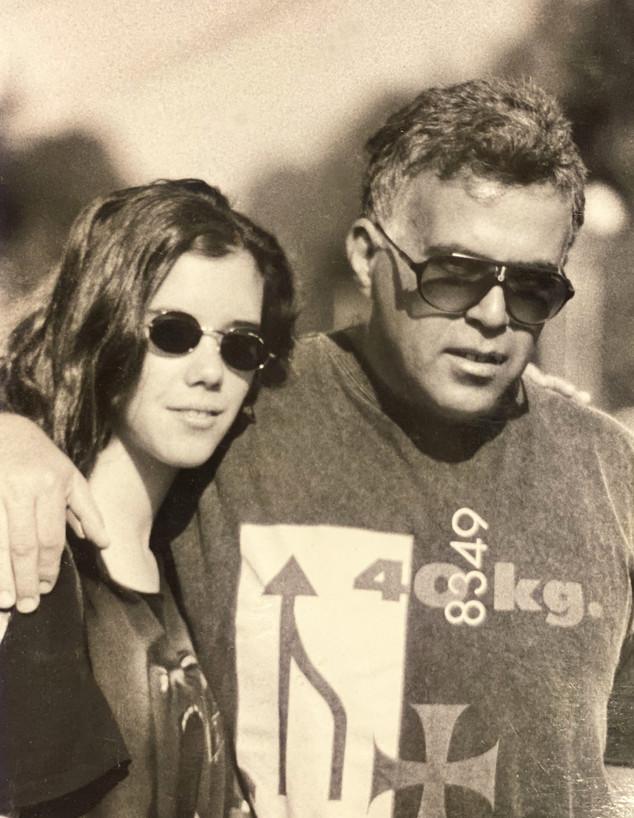 שגית סולומון לוי עם אביה (צילום: באדיבות המשפחה)