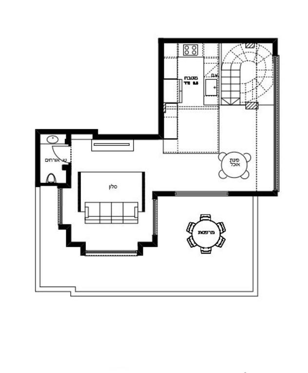 דירה בתל אביב, עיצוב נעה בר וטל מידן, ג, תוכנית קומה עליונה