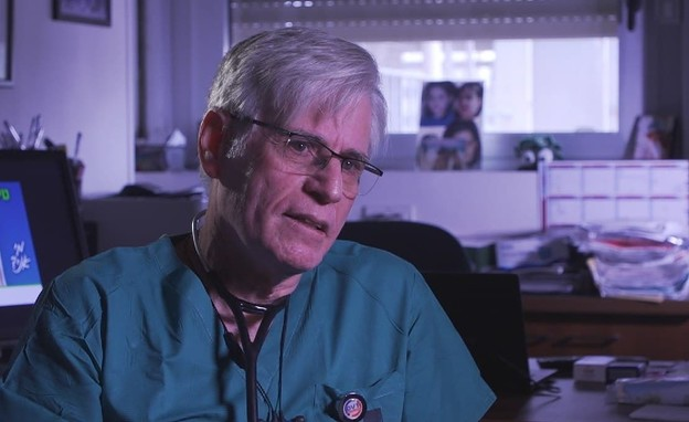 רופא, ניסוי החיסון לקורונה (צילום: החדשות 12)