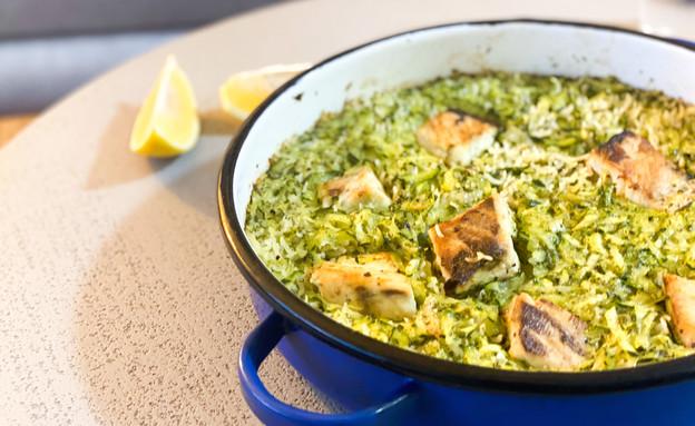 אורז, דג וירוקים בסיר אחד (צילום: רותם אלון, אוכל טוב)