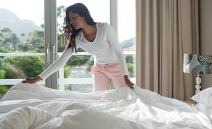 סידור מיטה (צילום:  wavebreakmedia, Shutterstock)