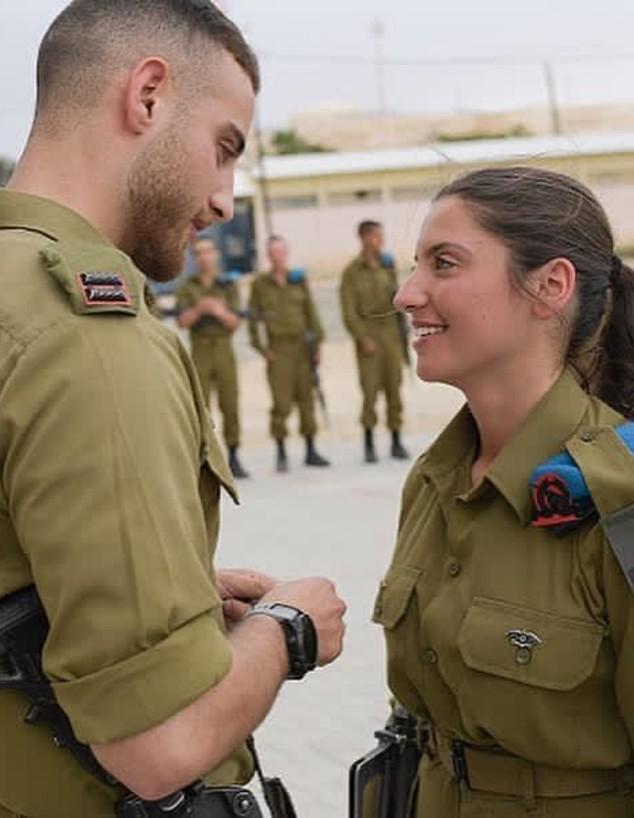 """סגן בן קיצוני ואחותו  (צילום: דובר צה""""ל )"""