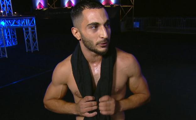 """גבריאל דמתי באתגר הנינג'ה (צילום: מתוך """"נינג'ה ישראל 2021"""", קשת 12)"""