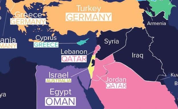 מפת ההגירה של רמיטלי (צילום: צילום מסך מאתר Remitly)