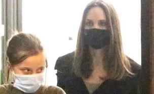 אנג'לינה ג'ולי והבת (צילום: instagram)