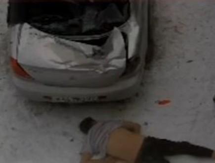 תיעוד מופרע: נפל מקומה שישית על הרכב של השכנים - ושרד באורח נס