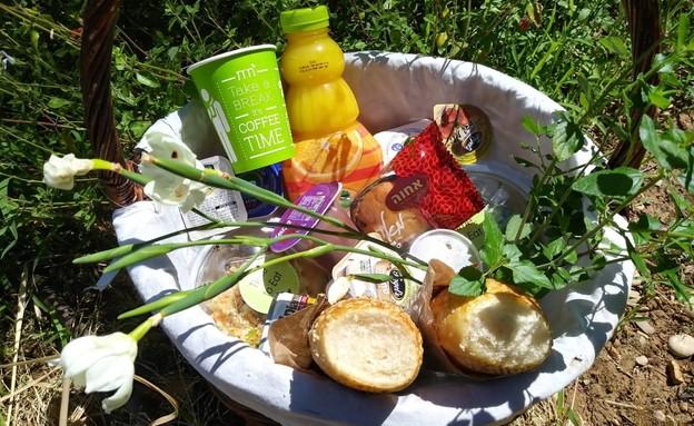 ארוחת פיקניק סלסלה (צילום: יחצ מטיילים)