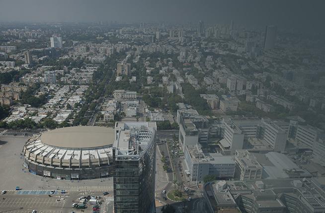 מבט מהאוויר על שכונת יד אליהו ועל אצטדיון (צילום: מרים אלסטר, פלאש 90)