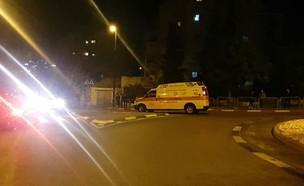 """אירוע אלימות בירושלים (צילום: תיעוד מבצעי מד""""א)"""