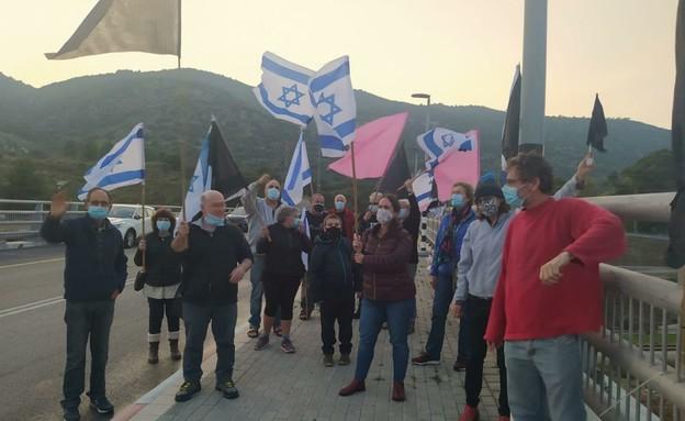 מחאת הדגלים השחורים (צילום: מחאת הדגלים השחורים)