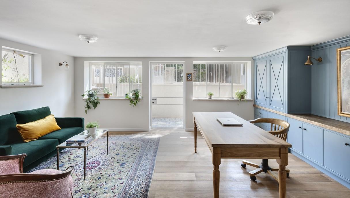 בית בשוהם, עיצוב דניאל זריהן בייצ'ר, חדר עבודה במרתף
