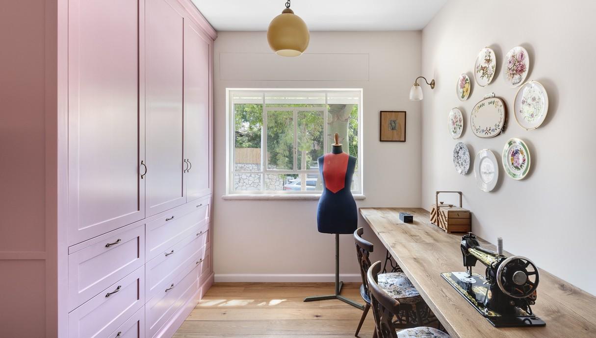 בית בשוהם, עיצוב דניאל זריהן בייצ'ר, חדר תפירה