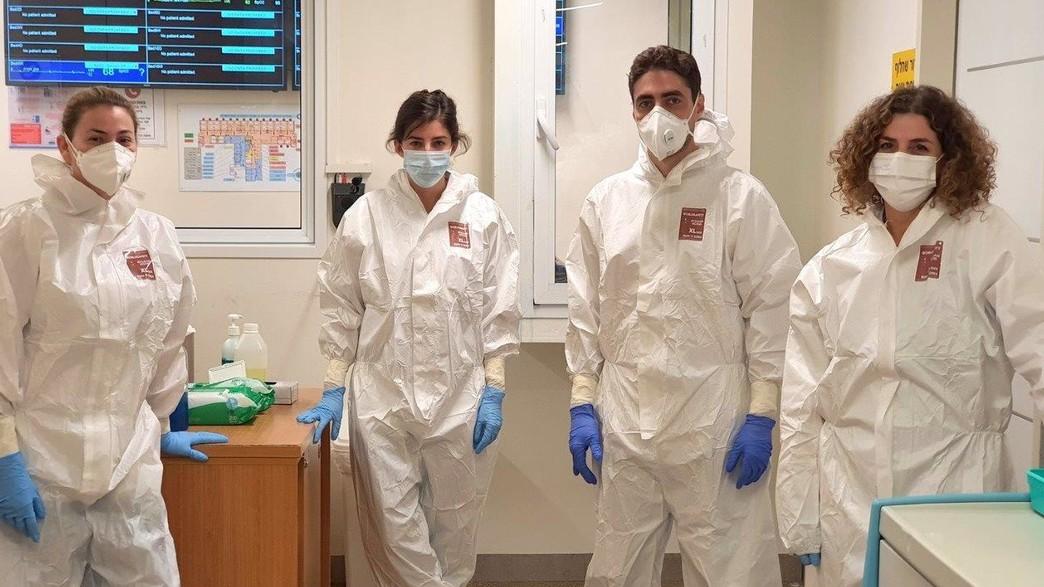 יעל קרבס והצוות במרכז הרפואי הלל יפה (צילום: המרכז הרפואי הלל יפה)