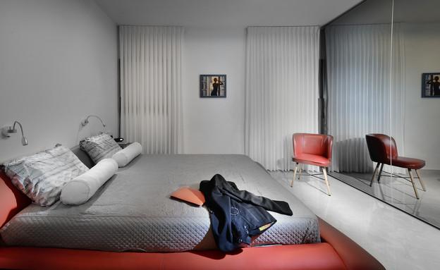טלוויזיה בחדר השינה, עיצוב ענבר בן צבי - 2 (צילום: ליאור טורם להרדור)