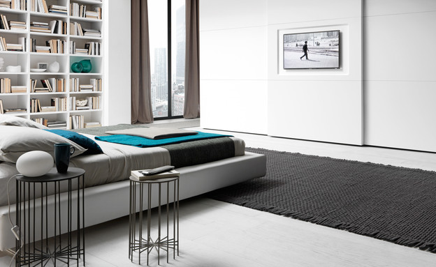 טלוויזיה בחדר השינה, מילאנו בדינג (צילום: סטודיו פיטארי)