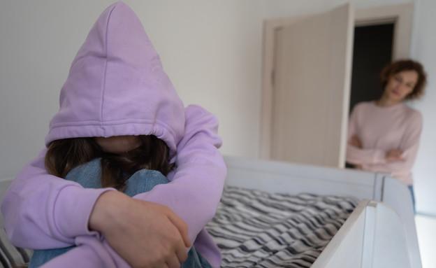 נערה בדיכאון (צילום: fizkes, Shutterstock)
