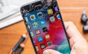 אייפון 6 פלוס עם מסך מנופץ (צילום: Nor Gal / Shutterstock.com)