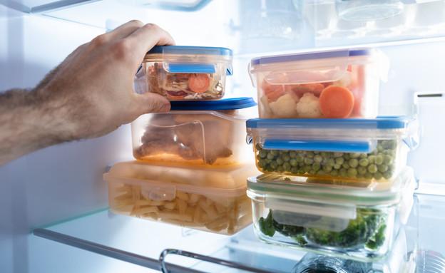 קופסאות אוכל במקרר (צילום:  Andrey_Popov, Shutterstock)