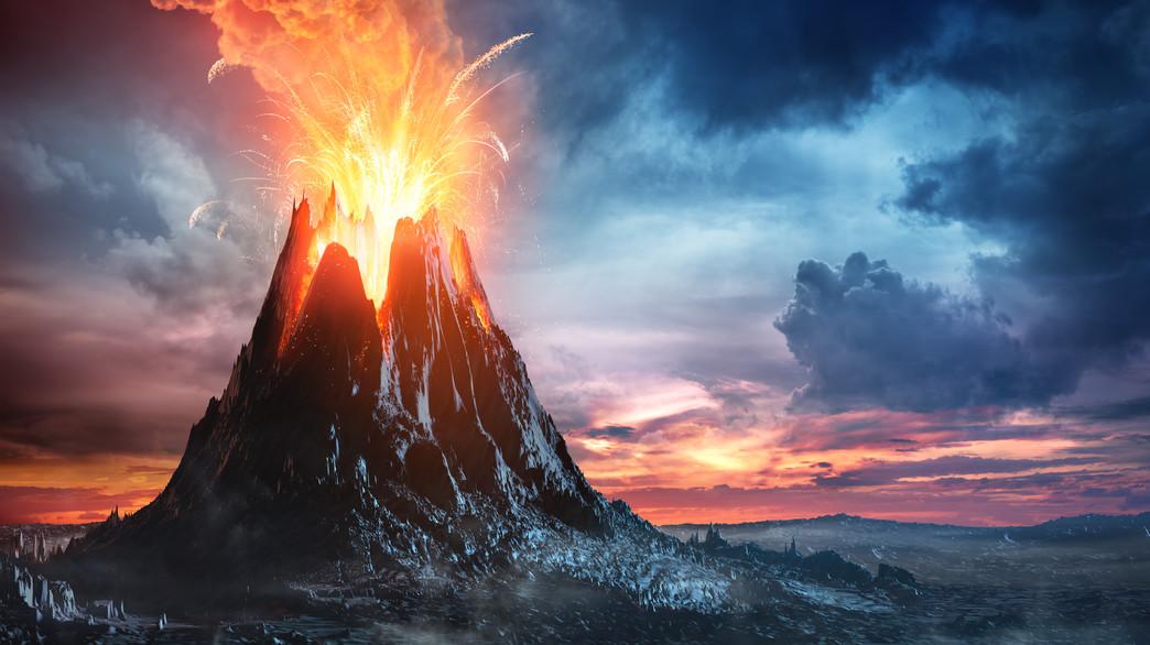 התפרצות הר געש באיסלנד בתקופה האפלה
