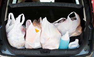 קניות בשקיות ניילון (צילום: Vereshchagin Dmitry, shutterstock)