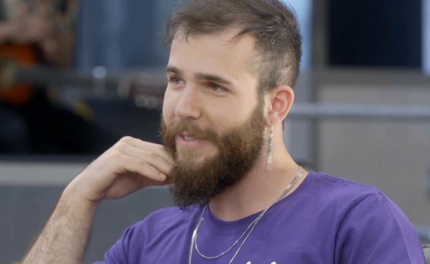 """גיל מרנץ מתכונן למסלול (צילום: מתוך """"נינג'ה ישראל 2021"""", קשת 12)"""