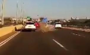 תיעוד תאונה (צילום: אור ירוק)