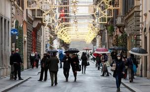 הימים שלפני ההגבלות החדשות, רומא (צילום: רויטרס)