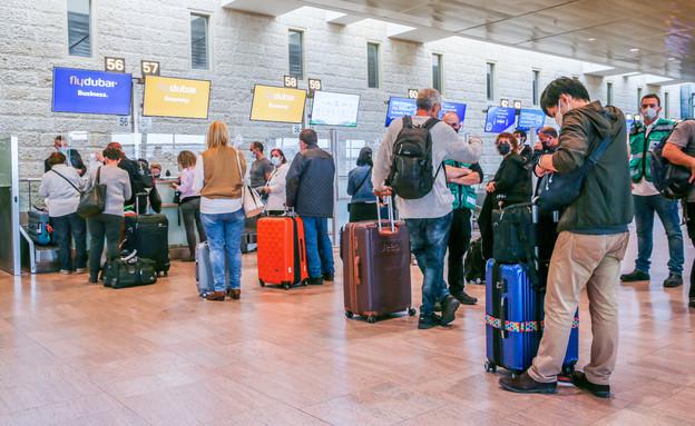 """נתב""""ג, נמל התעופה בן גוריון, קורונה, טיסות, טיסה (צילום: יוסי אלוני, פלאש 90)"""