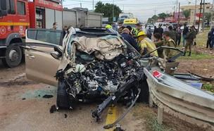 """תאונה קטלנית בכביש 90 (צילום: עידן תורג'מן, תיעוד מבצעי מד""""א)"""