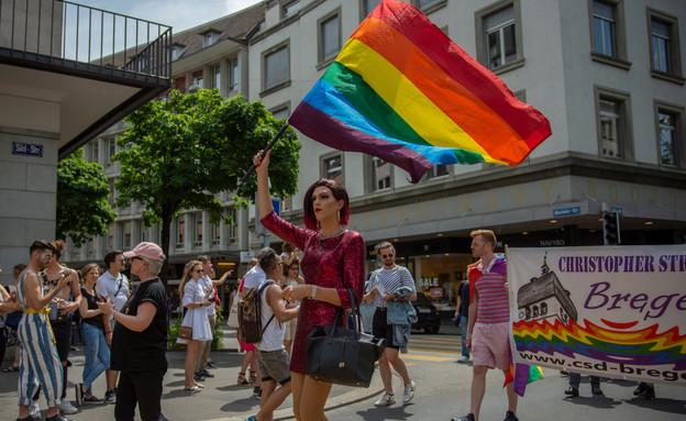 מצעד הגאווה בציריך, שוויץ, 2019 (צילום: Samuel Tuor, Shutterstock)