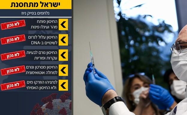 חיסון קורונה באיכילוב היום (צילום: מרים אלסטר, פלאש 90)