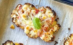 סטייק כרובית פיצה (צילום: רון יוחננוב, אוכל טוב)