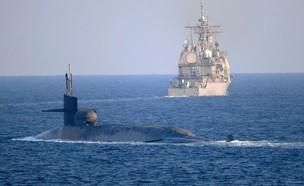 הצוללת (צילום: indra beaufort/U.S Navy)