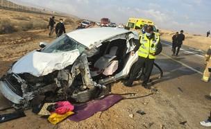"""תאונה בכביש 25 (צילום: תיעוד מבצעי מד""""א)"""