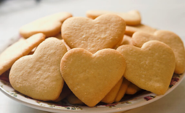 עוגיות לב (צילום: רויטל פדרבוש, מטבח לייט )
