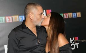 סערה ברשת סביב הנשיקה של אלין כהן ואביה (צילום: רפי דלויה, קשת 12)