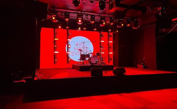 זאפה באר שבע מואר באדום כמחאה על סגירת עולם התרבות