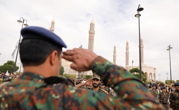 הכוחות החות'ים בתימן (צילום: רויטרס)