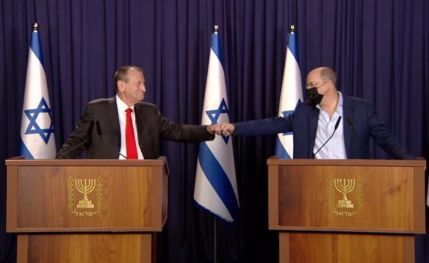 רון חולדאי ואבי ניסנקורן (צילום: החדשות )