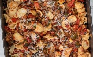 אוריקטה עם רטטוי בתנור (צילום: מיכל רביבו, געגועים לאיטליה)